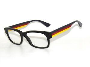 ecac995d3ff Gucci 0343O 006 55 Black Multicolor Eyeglasses Unisex 889652156088 ...