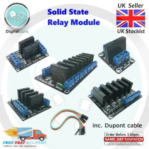 1 2 4 6 8 Channel OMRON 5 V SSR Solid State Relais Haute Trigger Module-Arduino Pi