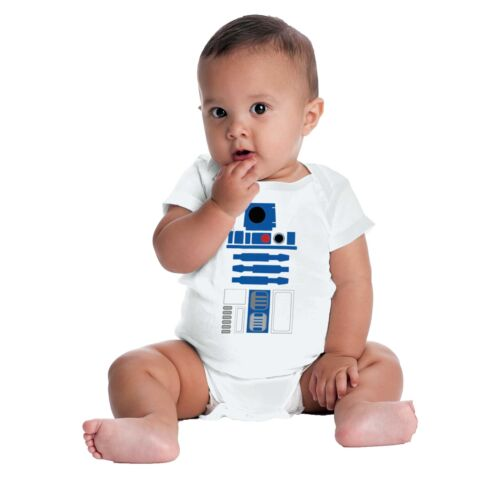 Nerdy Space Robot Cute Gerber OnesieGalaxy Android Geek Funny Baby Romper