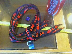 Corazón Rojo Negro Fuego Cordones festivales Cordones Flirt Nuevo Zapato