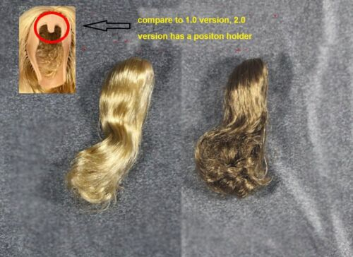 KUMIK 1//6 Scale Female Brown Hair Wig 2.0 For 1//6 Head Sculpt SHIP FROM USA