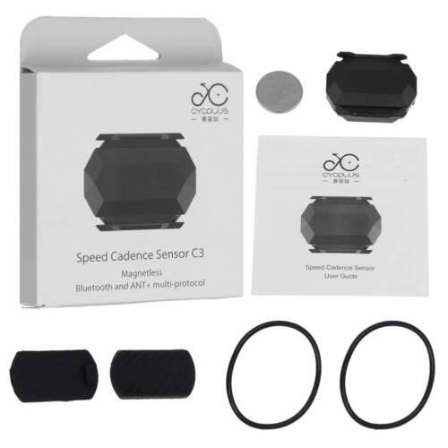 Bike Bicycle ANT+Bluetooth Wireless Speed Cadence Sensor For Garmin Bryton Zwift