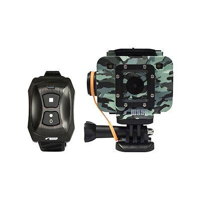WASPCam 9906 CAMO Wi-Fi 1440p HD Action Video Camera DVR 16mp W/ Wrist Remote