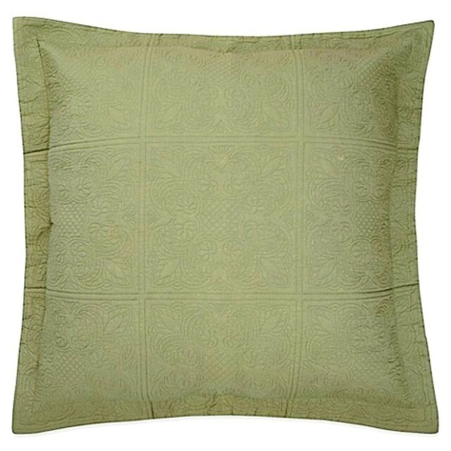 Full Queen SAGE GREEN Twin KIng QUILT or Sham 100/% COTTON MATELASSE COVERLET