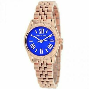 24291318188f Michael Kors Women 26mm Rose Gold Petite Lexington Bracelet Watch MK3272