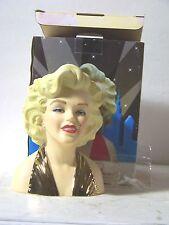 7 Inch 22K Gold Dress Licensed marilyn Monroe Head vase Never Displayed Only 100
