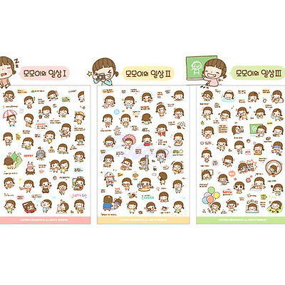 6 Sheets Cute Cartoon Girl Stickers Scrapbook Calendar Diary Planner Decoration
