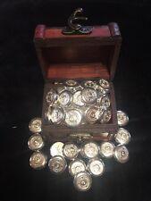 2x 1/2 oz Pirate Treasure 1 oz .999 Fine Silver Bullion button, round, privateer