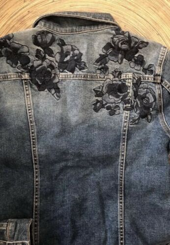 Women/'s Driftwood Geena Embroidered Denim Jacket NEW!