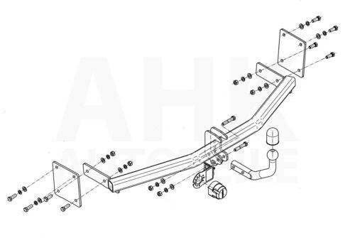 Für Kia Rio III UB 5-Tür 11-17 Anhängerkupplung starr+E-Satz 13p spez