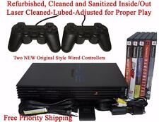 Sony Playstation 2 Wired Controllers 13 Games, LASER Adjusted, PS2 System BUNDLE