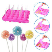 20 Slots Silicone Tray Pop Cake Stick Mould Lollipop Party Cupcake Baking Mold