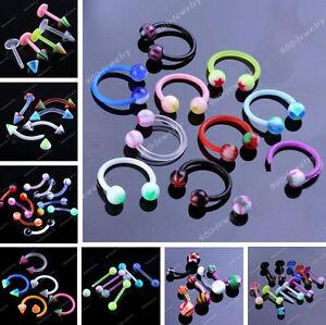 10-50-100pc-UV-Acrylic-Bar-Berbell-Labret-Lip-Eyebrow-Tongue-Navel-Belly-Ring