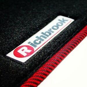 Richbrook-alfombrillas-de-Para-Mitsubishi-Shogun-Lwb-07-amp-Gt-Rojo-Y-Negro-Ribb-Trim