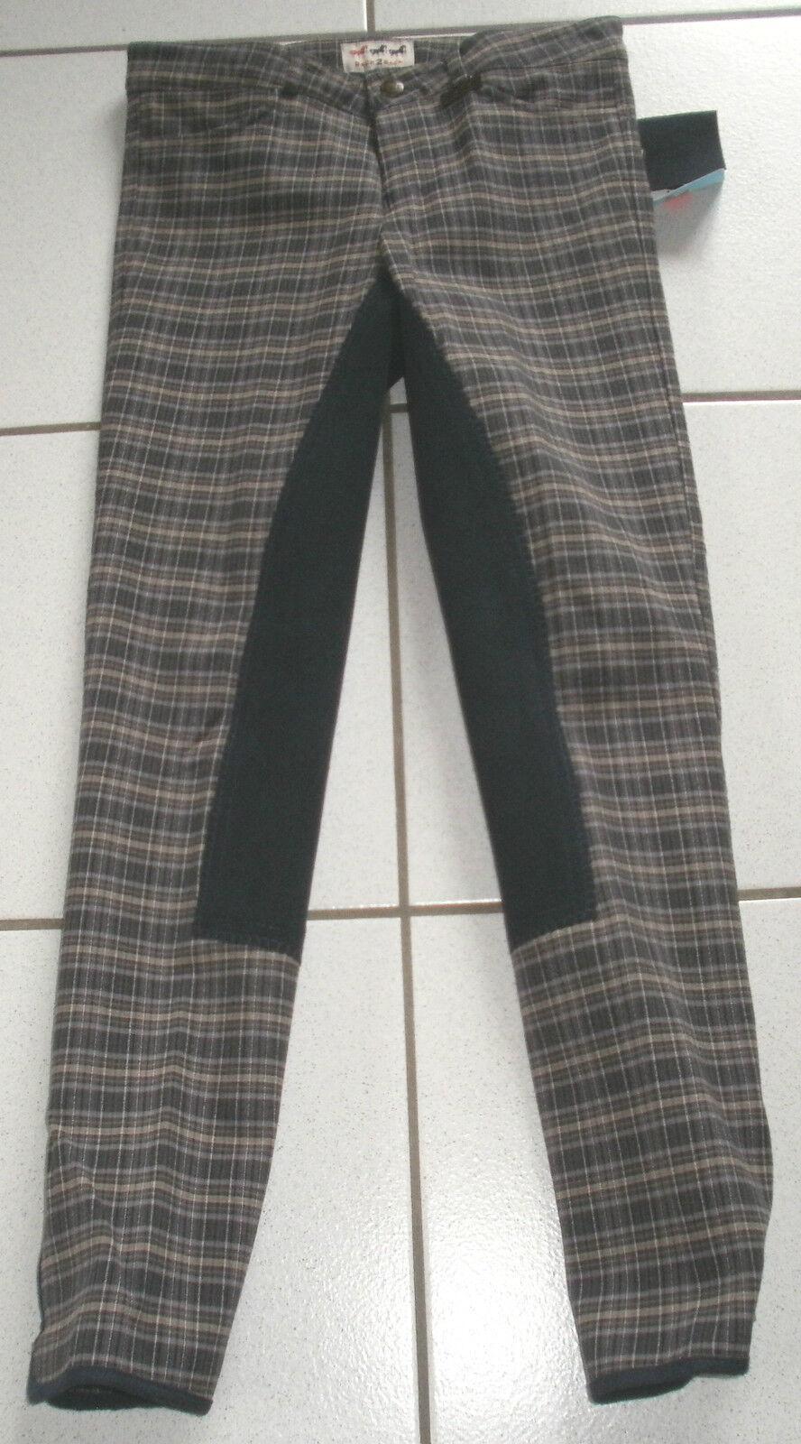 Back 2 backreithose, backreithose, backreithose, ribete de pleno, gris Karo, talla 158, (3058) 190f09