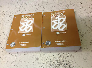 1999 Gm Cadillac Catera Service Shop Repair Workshop Manual Set Oem 1999 1999