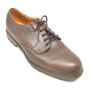 Men-039-s-Timberland-Waterproof-Oxfords-Shoes-Size-9-5-M-Brown-Leather-Casual-F6