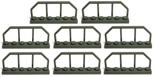 LEGO DARK GREY fence barrier 1x6 police bars city road construction* pack of 8