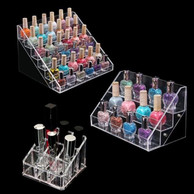 Acrylic Nail Polish Display Stand Rack Organizer Holder 3/6 Layers 9 Grids