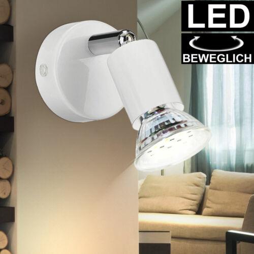 LED Wand Spot Lampe weiß Wohn Schlaf Zimmer Beleuchtung Lese Strahler schwenkbar