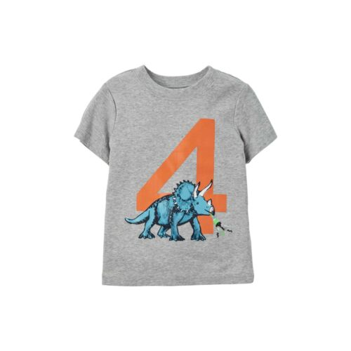 ~NEW~ BIRTHDAY Boys Shirts 1st 2nd 3rd 4th 5th Years Giraffe Tiger Dino Dog GIFT