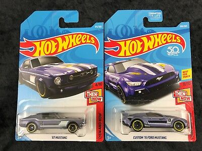 Hot Wheels 2018 Custom '15 Ford Mustang '67 Mustang Then And Now Series Set