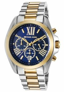 Michael-Kors-Bradshaw-Gold-Silver-Navy-Chrono-Stainless-Steel-MK5976-Women-Watch