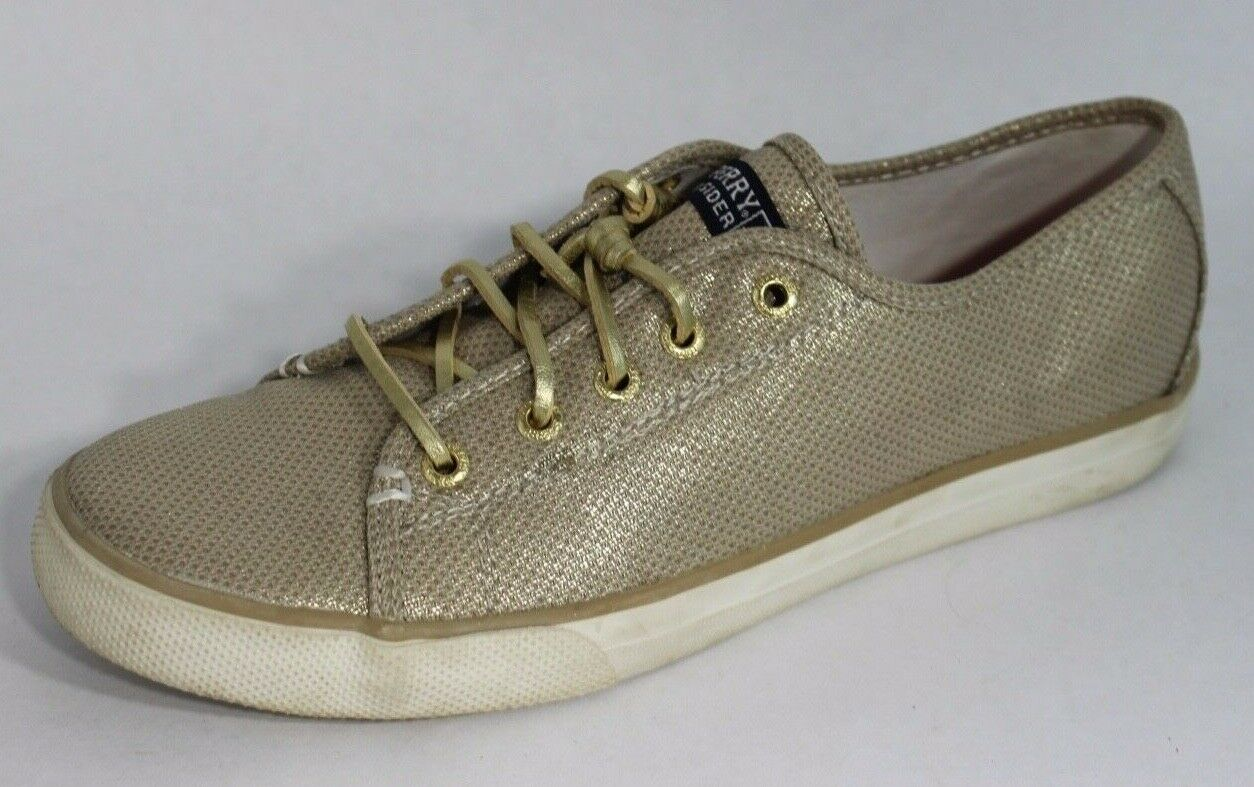 Sperry top sider Seacoast women's gold metallic sneakers size 5M