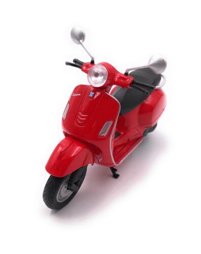 Modell Vespa Motorroller Roller Rot Motorrad Bike Modell Maßstab 1:18