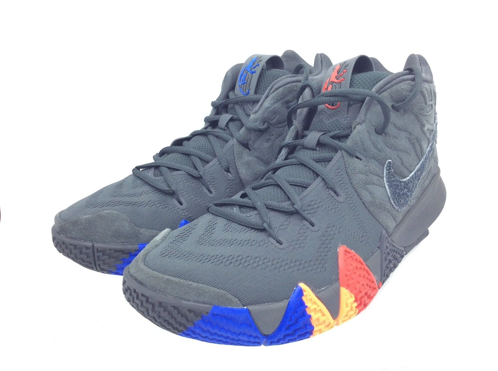 Nike, Men's Kyrie 4 Basketball shoes, Anthracite Black, Size 10.5