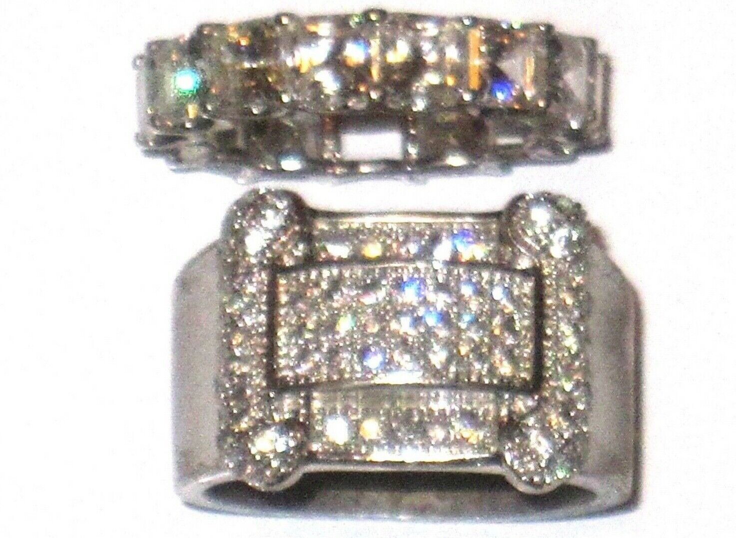 Mens Ring Micro Pave CZ Cubic Zirconia Size 5-6