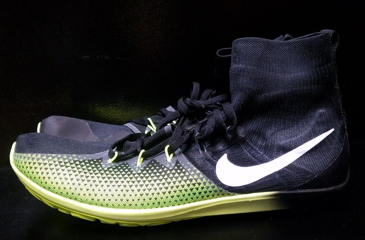 Nike Zoom Victory Waffle 4 XC Men's Racing Shoes Size 10.5 Black Volt 878803-017
