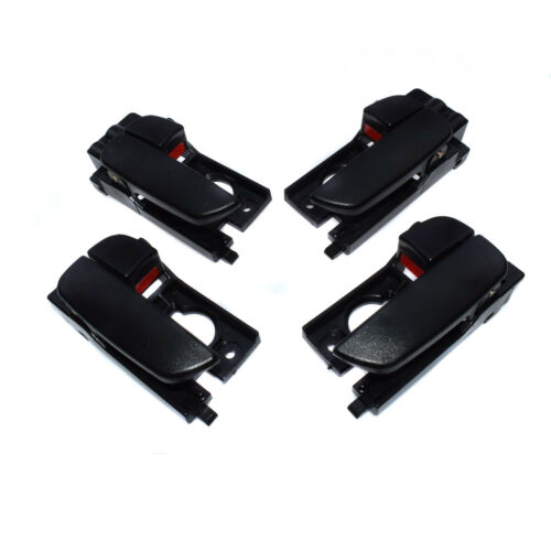 Black Set 4pcs Front Rear LH RH Inside Door Handles For 07-11 Hyundai Accent NEW