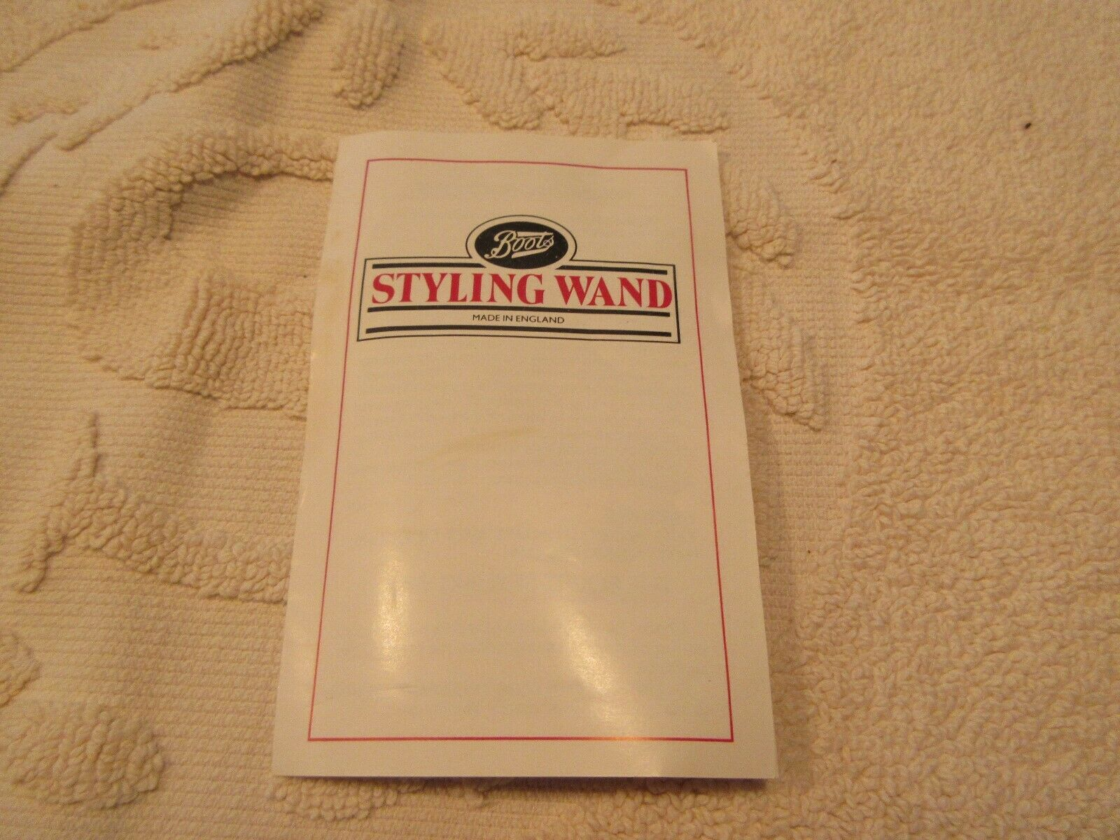 Boots , Hair Styling Wand , Made In England , Vintage ,