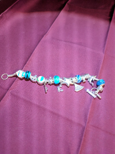 Bracelet Charm Bracelet August Vintage Charm Brac… - image 2