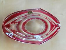 Cendrier en cristal Val Saint Lambert rose / Crystal ashtray Val Saint Lambert