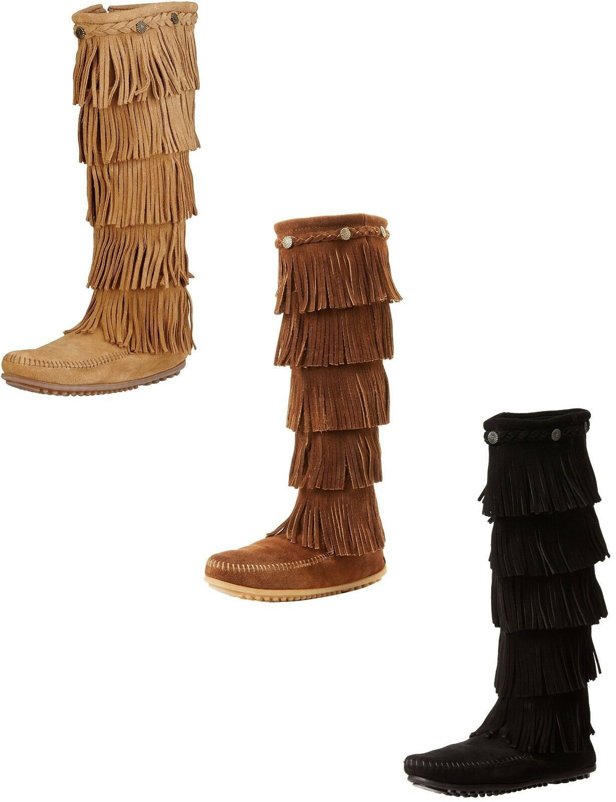 Mr/Ms Minnetonka Women's 5-Layer Fringe Boot Aesthetic appearance for King of quantity Known for appearance its excellent quality 236d36