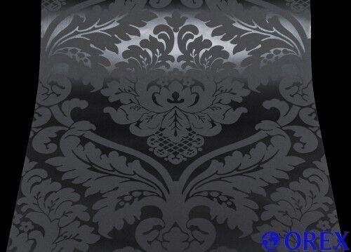 Struktur Tapete AS White & Colours 5526-31 552631 BAROCK schwarz (1,63 / m²)
