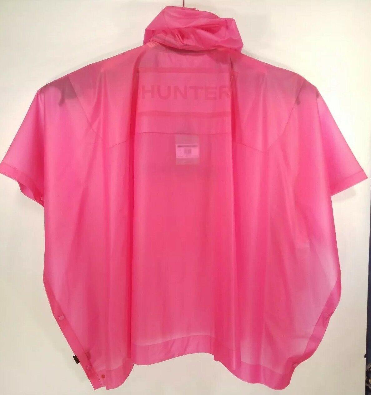 Hunter XS  S Unisex Original Vinyl Poncho Pink Fushcia Outdoor Festival Raincoat