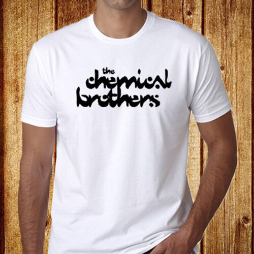 The Chemical Brothers Electronic Music Band Logo Men/'s White T-Shirt Size S-3XL