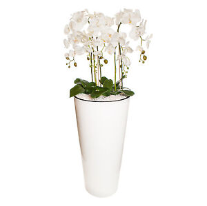Gesteck xxl 130 cm hoch k nstliche orchideen pflanze dekoration wei gro 4 ebay - Dekoration mit orchideen ...