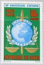 NIGER 1973 369 270 50th Ann INTERPOL Intl. Criminal Police Org. Emblem MNH