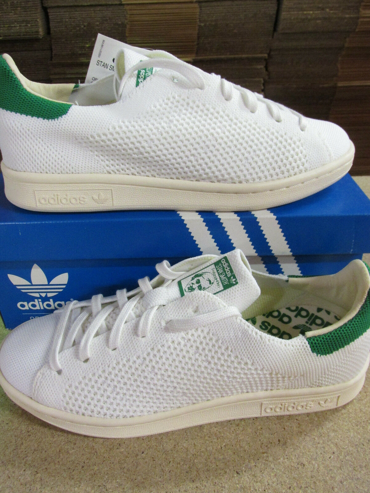 Adidas Originals Stan Smith OG PK Primeknit Homme Trainers S75146 Sneakers Chaussures