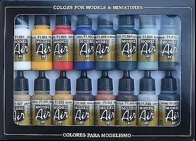 AV Vallejo - Basic colors Model Air Paint Set