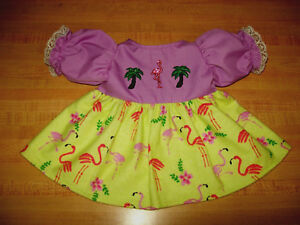 FLORIDA-FLAMINGO-PALM-TREE-ORCHID-TOP-DRESS-for-16-17-034-CPK-Cabbage-Patch-Kids