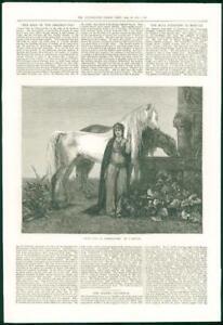 1874-FINE-ART-Antique-Print-Jeune-Fille-De-L-039-Herzegovine-Gautier-Horses-119