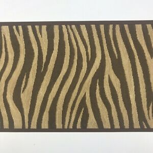 Details About Norwall Wallpaper Border Mtr2579 Zebra Chocolate Brown Textured Animal Print
