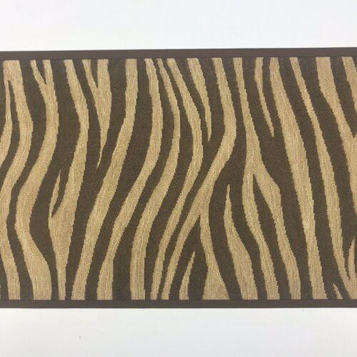 Norwall Wallpaper Border MTR2579 Zebra Chocolate Brown Textured Animal Print