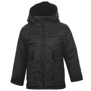 DISNEY-blouson-manteau-noir-double-STAR-WARS-taille-4-5-ans-chaud-NEUF