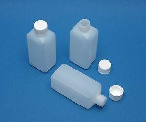 100ml-PE-Vierkant-Flasche-mit-Schraubdeckel-Kunststoff-Flasche-Plastikflasche